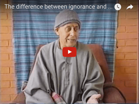 The difference between ignorance and knowledge