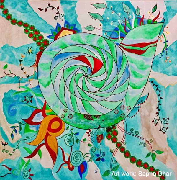 Painting © Sapna Dhar Katiyar www.letspaintpeace.com