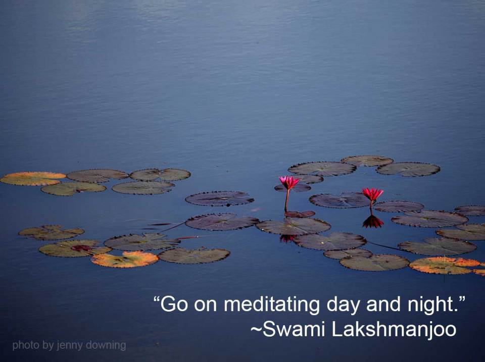 Go on meditating day and night