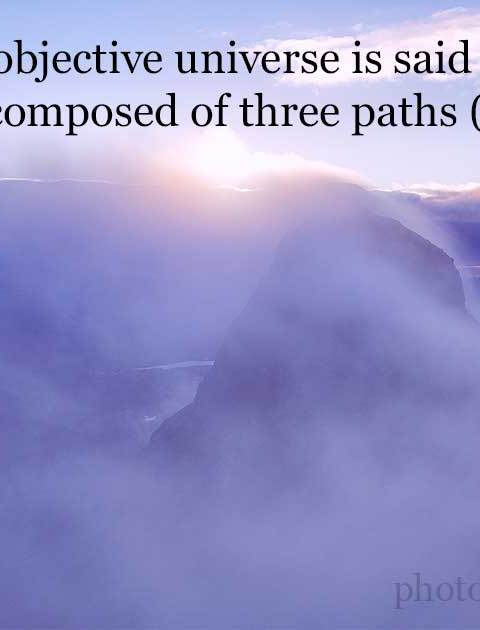 In Śaivism this objective universe is said to be threefold, because it is composed of three paths (adhvans) . . .