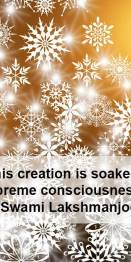 All this creation is soaked with supreme consciousness ~Swami Lakshmanjoo