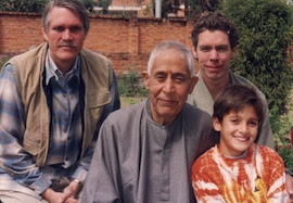 Swami Lakshmanjoo with John Hughes and George Barselaar
