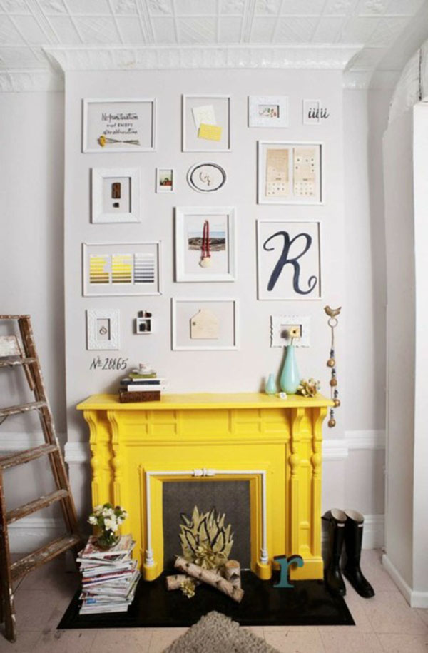yellow fireplace 2 | La La Lovely
