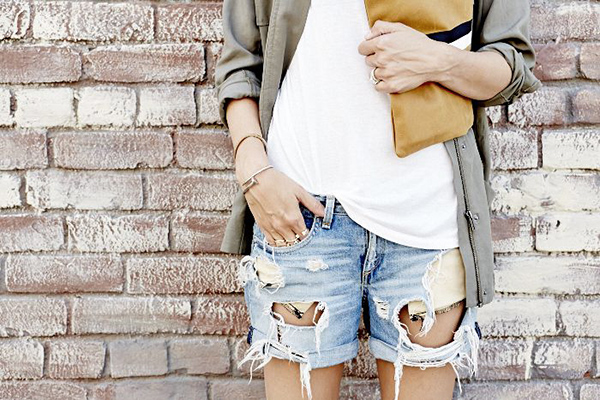 distressed-denim-shorts