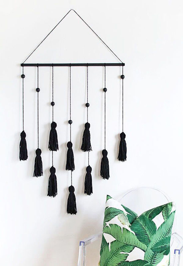 La La Loving Modern Tassle Wall Hanging DIY