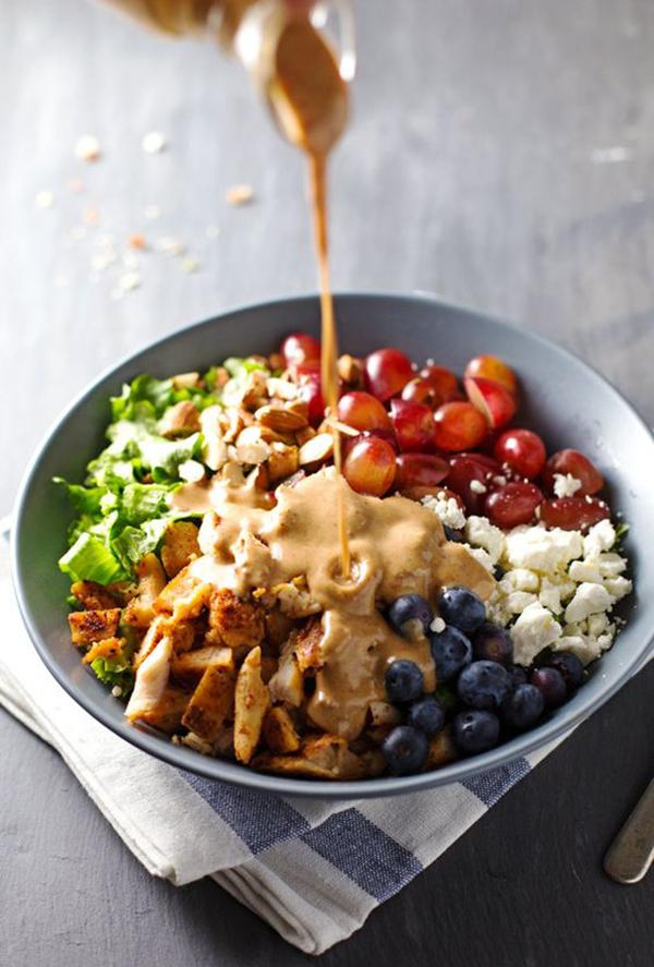 la la loving rainbow chicken salad