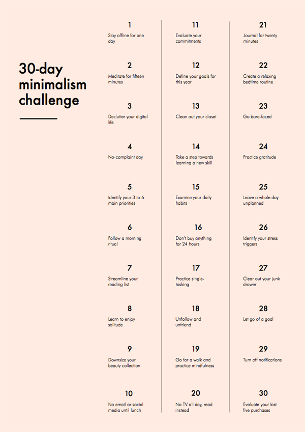 Minimalist Challenge for a New Year