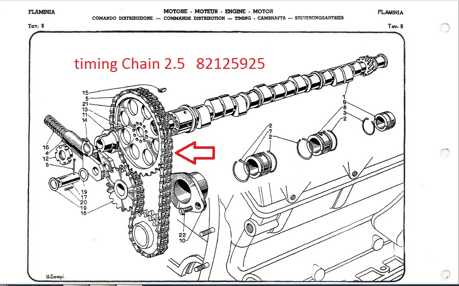 Lancia Flaminia 2.5 New Timing Chain : :: LALANCIA.COM