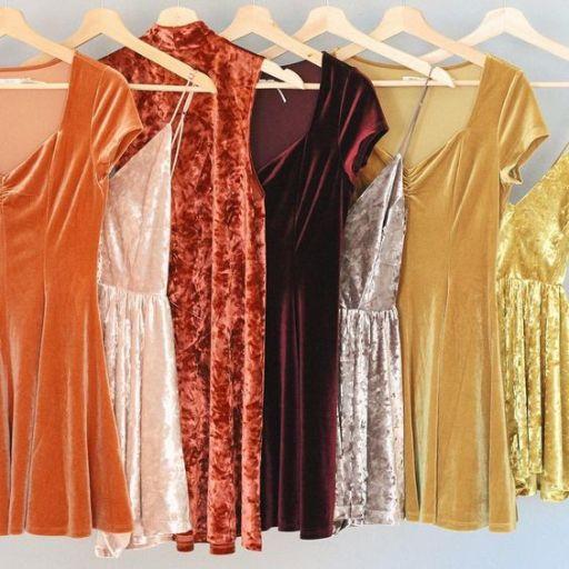 vestido de veludo 2017 4