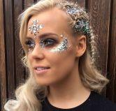 make carnaval com aplique de strass cristais festival 12