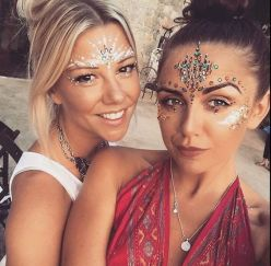 make carnaval com aplique de strass cristais festival 20