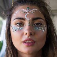 make carnaval com aplique de strass cristais festival 22