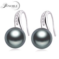 Genuine Natural Pearl Earrings 925 Silver Earrings ...