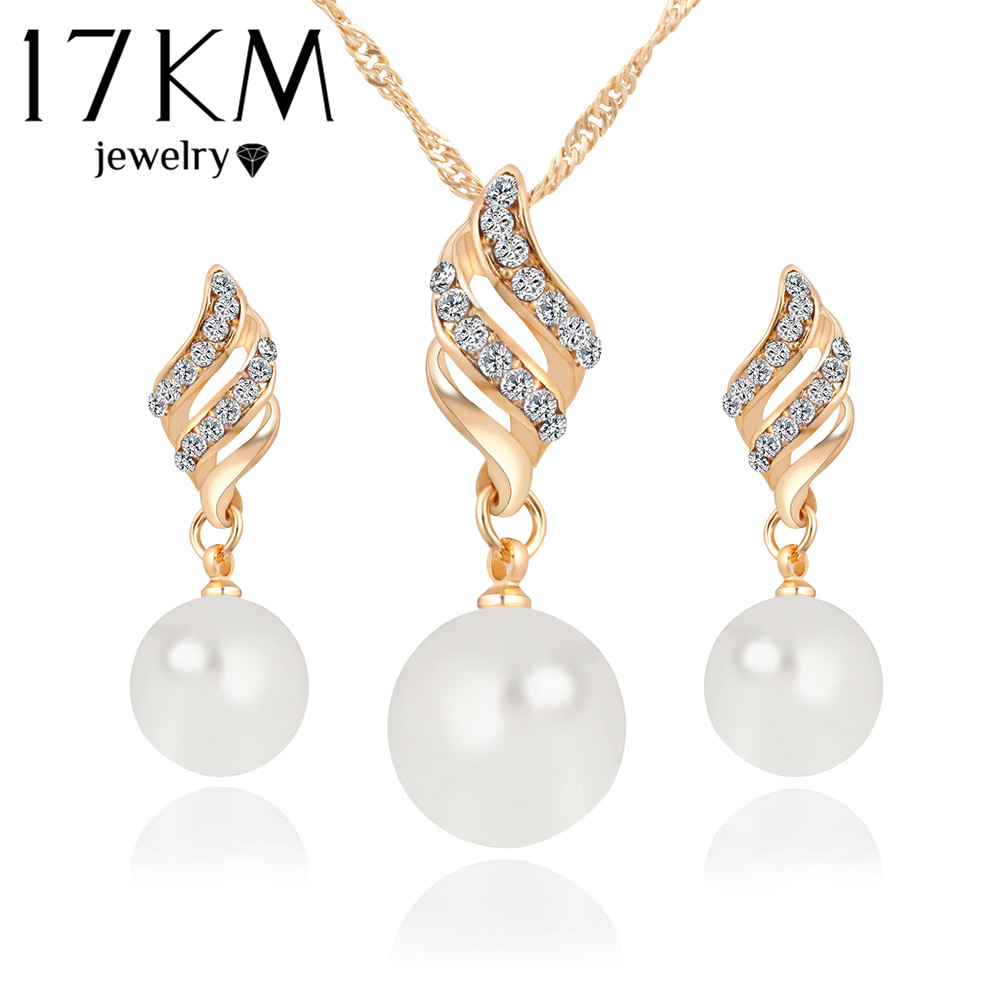 Fashion Necklace Earrings Jewelry Sets