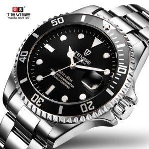 Men Mechanical Watch Stainless Steel Male Clock