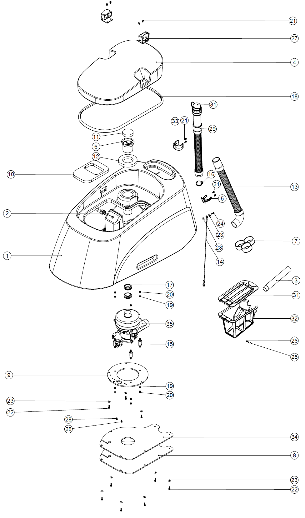 Spare Parts for Battery Auto-Scrubber without Traction