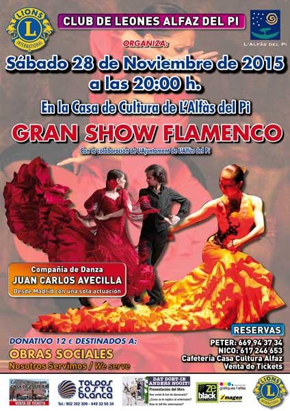 El Club de Leones organiza un espectáculo de flamenco con fines solidarios