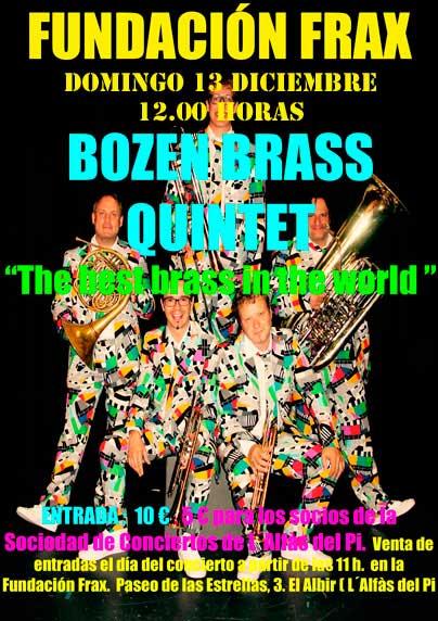 Bozen Brass Quintet ofrece este fin de semana dos conciertos en l'Alfàs del Pi