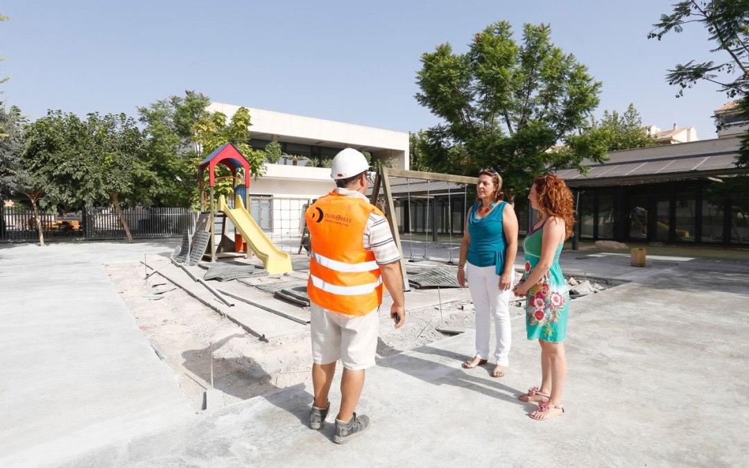 El CEIP Racó de l'Albir agradece al Ayuntamiento de l'Alfàs las obras de pavimentación de los patios del centro
