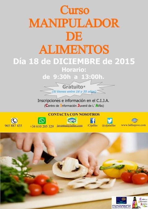 La concejalía de Juventud de l'Alfàs organiza un nuevo curso de manipulador de alimentos
