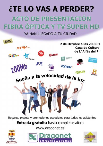 Acto de presentación de la fibra óptica y la TV Super HD mañana viernes en la casa de cultura
