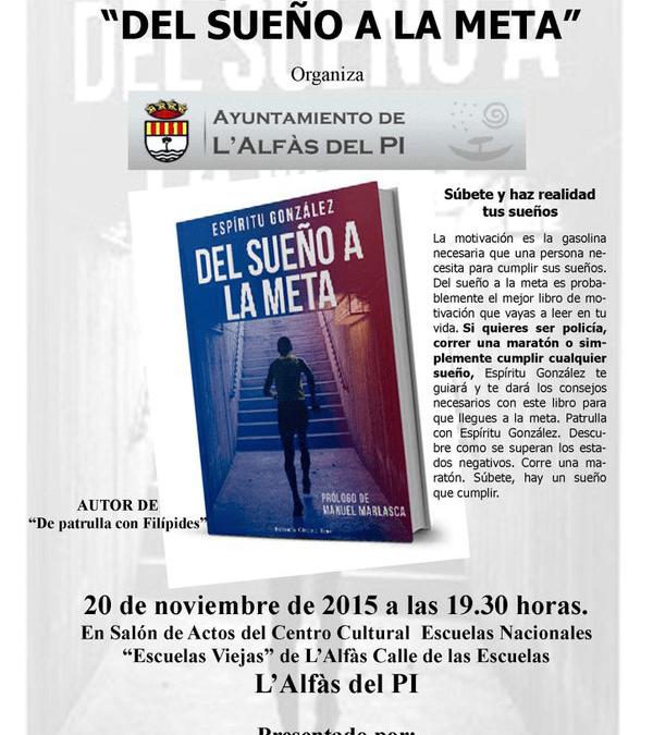 "Les Escoles Velles acogen la presentación del libro ""Del sueño a la meta"" de Espíritu González"