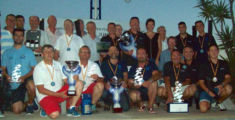 Seis alfasinos logran un gran triunfo en el Campeonato de España de Pesca de Altura