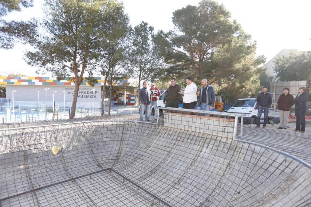 Las obras del skatepark de l'Alfàs marchan a buen ritmo