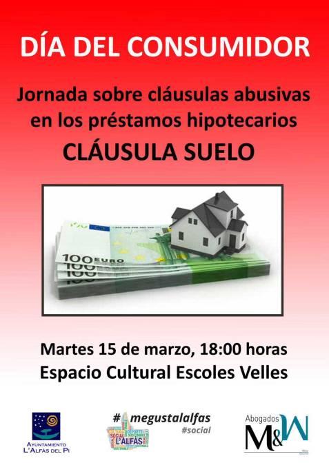 La concejalía de Consumo organiza una charla sobre la cláusula suelo para celebrar el Día del Consumidor