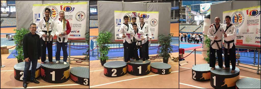 El Club Neptuno de Taekwondo ha conseguido cinco Oros, dos platas y dos Bronces el campeonato celebrado ayer  en Valencia.