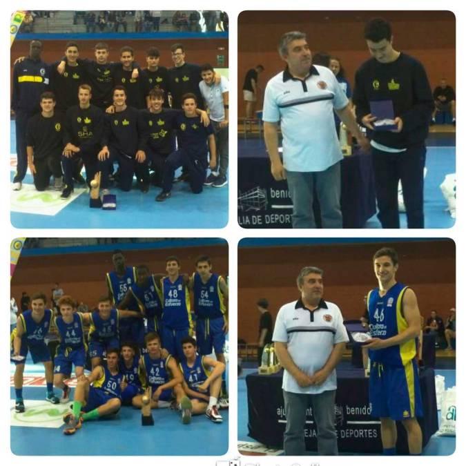 Los equipos Junior y Cadete de L'Alfàs del Pi campeones de la  Costa Blanca Basket Cup.