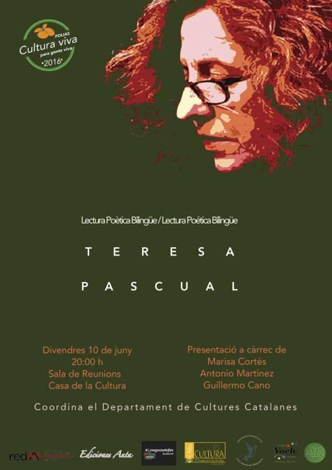 FO.LI.AS organiza un encuentro con la escritora Teresa Pascual