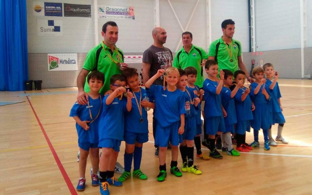 12 equipos de la provincia participaron en la jornada de querubines de fútbol sala de l'Alfàs del Pi celebrada el pasado sábado