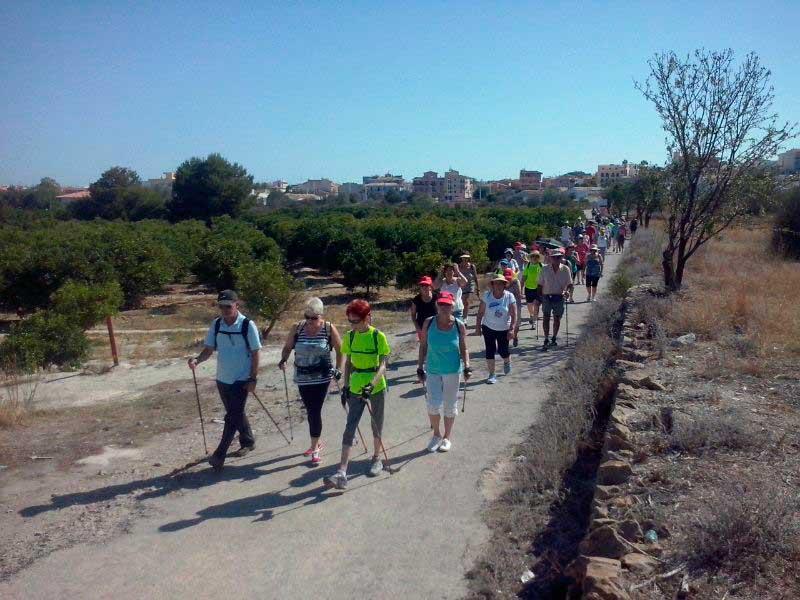 El sábado 25 de junio se celebrará la 4ª caminata verde entre árboles y edificios singulares de l'Alfàs del Pi  que promueve las concejalías de deportes  , medio ambiente y la FENWA.
