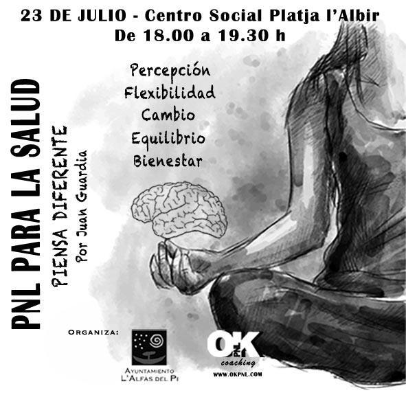 Curso sobre PNL para la Salud el próximo sábado en el Centro Social de l'Albir