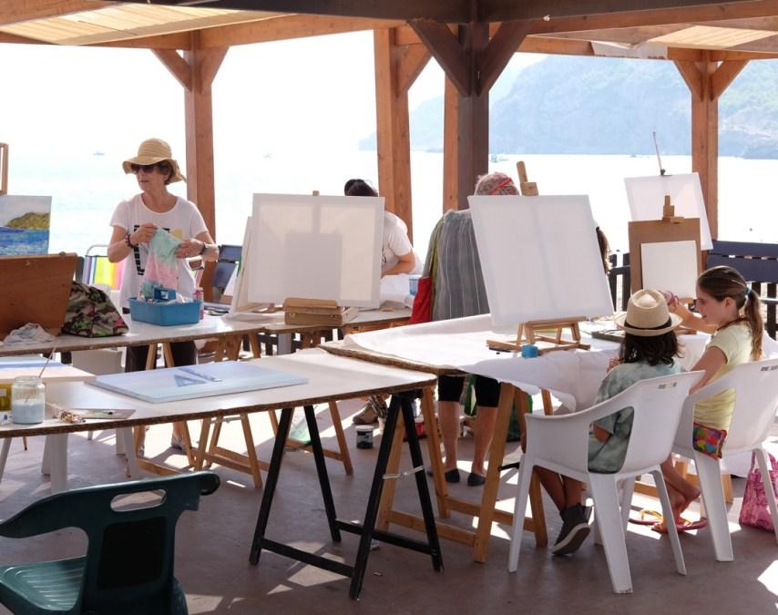 Una treintena de artistas se dan cita en el séptimo encuentro de pintores que organiza ArtAvant