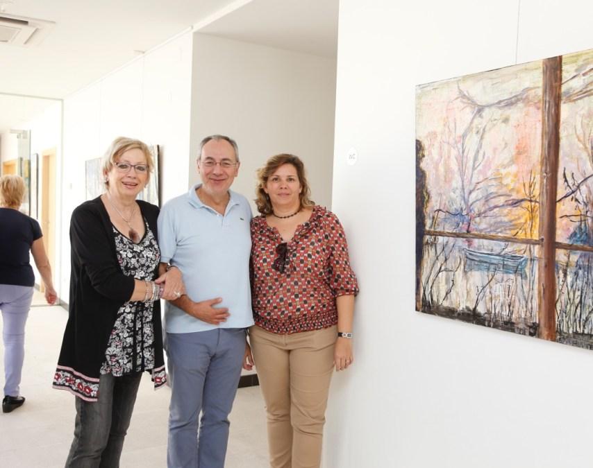 Isabel Marquina pone a la Fundación Frax 'En el camino' con su obra pictórica