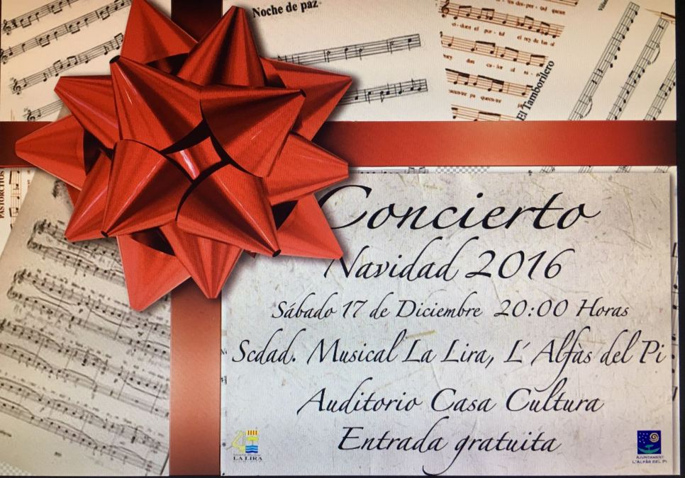 La casa de cultura de l'Alfàs acoge este sábado el concierto de Navidad de La Lira