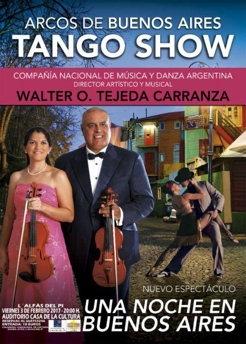 El mejor tango argentino este viernes en la casa de cultura de l'Alfàs