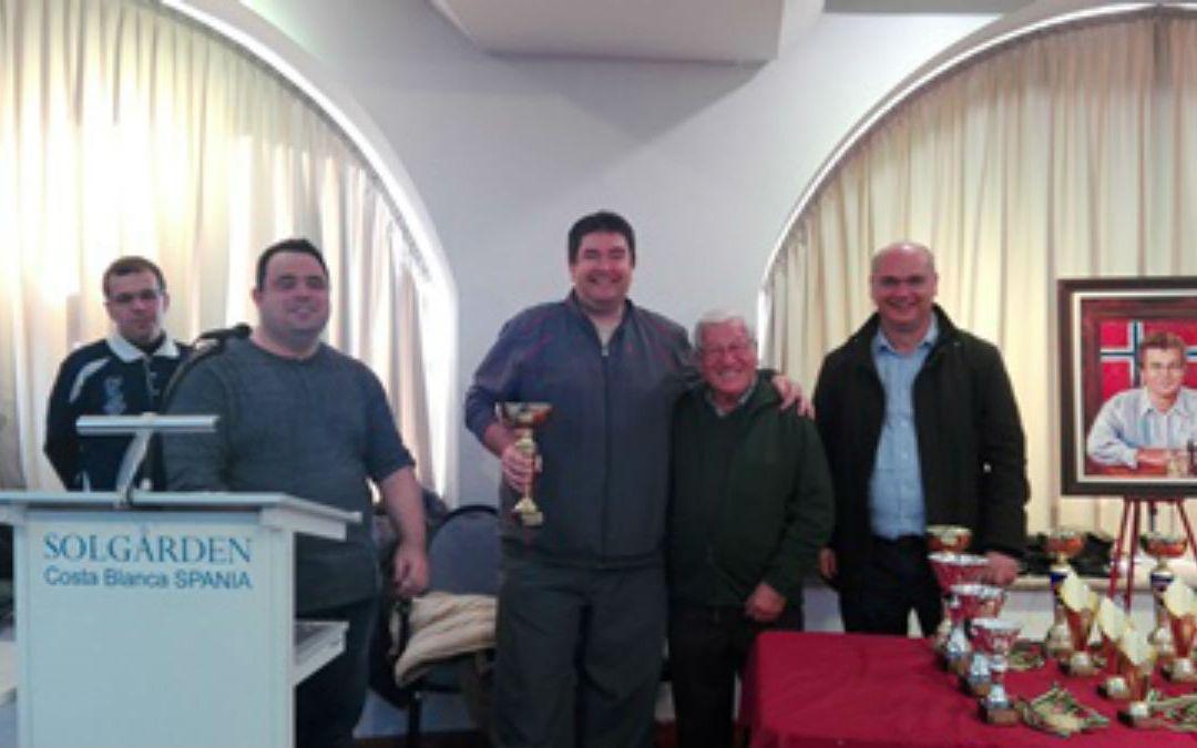 Dos jugadores del Club de Ajedrez de l'Alfàs ganan el III Open Internacional 'Ciutat de La Vila Joiosa'