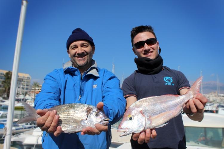 """León IV """" de l'Alfàs del Pi  ha sido la vencedora del concurso de pesca del Chambel celebrado este sábado 18 de febrero en el Club Náutico de Altea."""