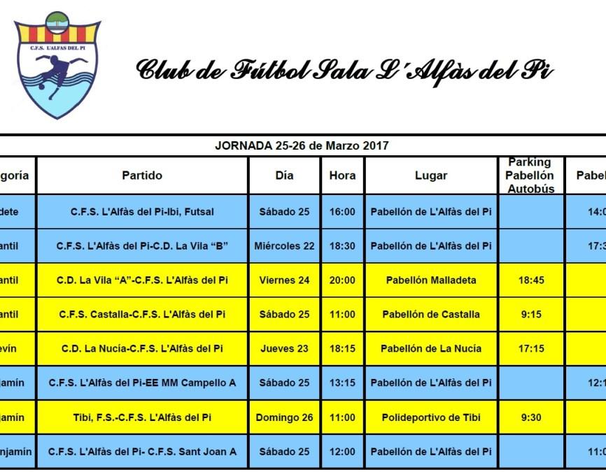 Partidos de Fútbol Sala para este próximo fin de semana