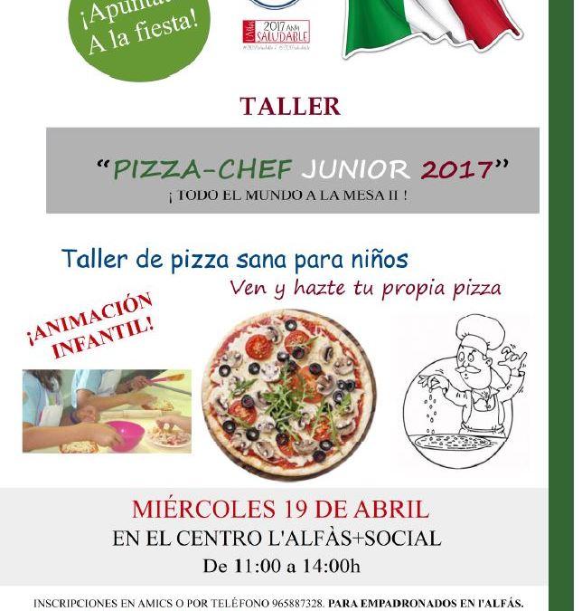 AMICS organiza un taller de cocina dirigido a los más pequeños bajo el título 'Pizza-chef junior 2017'