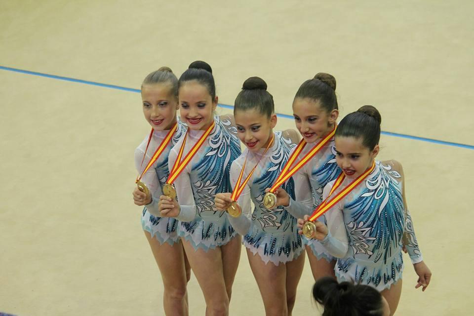 El conjunto alevín de Gimnasia Rítmica consigue el campeonato por comunidades en Guadalajara, y  Laia Rodriguez queda 5ª de España.