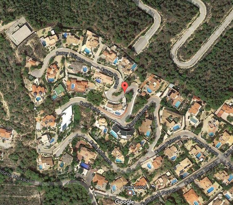 Vista aérea de la urbanización Cautivador, en l'Alfàs del Pi