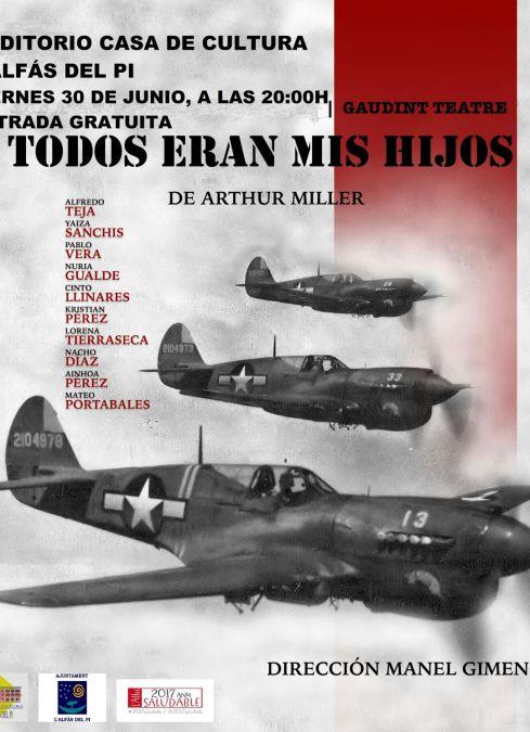 Gaudint Teatre presenta mañana en l'Alfàs 'Todos eran mis hijos'