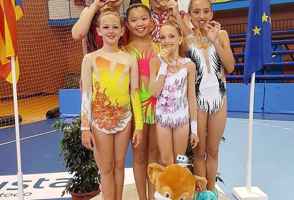 4 oros para las gimnastas alfasinas en la fase provincial  torneo celebrado en Benidorm.