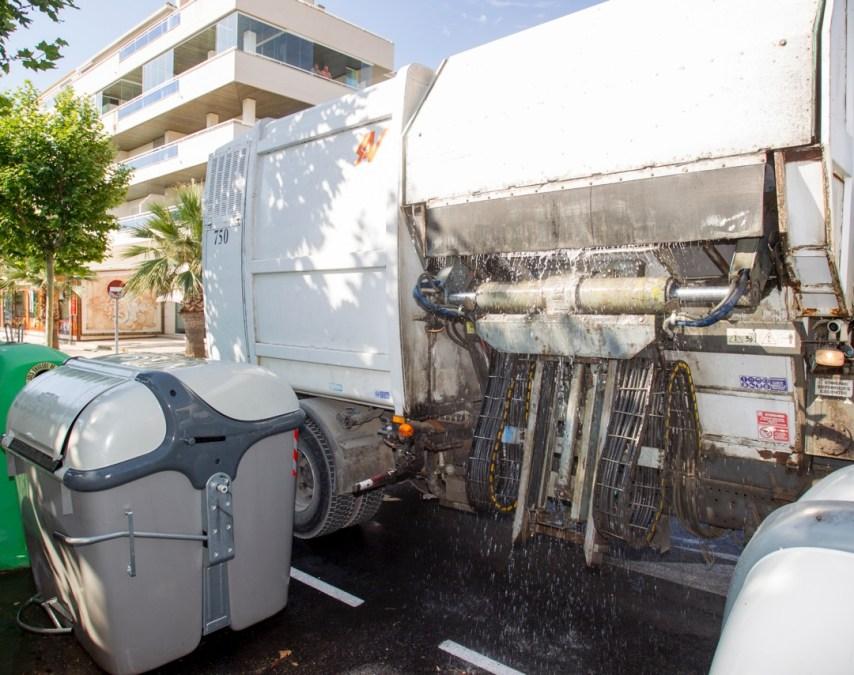 L'Alfàs optimiza el servicio de lavado de contenedores de basura