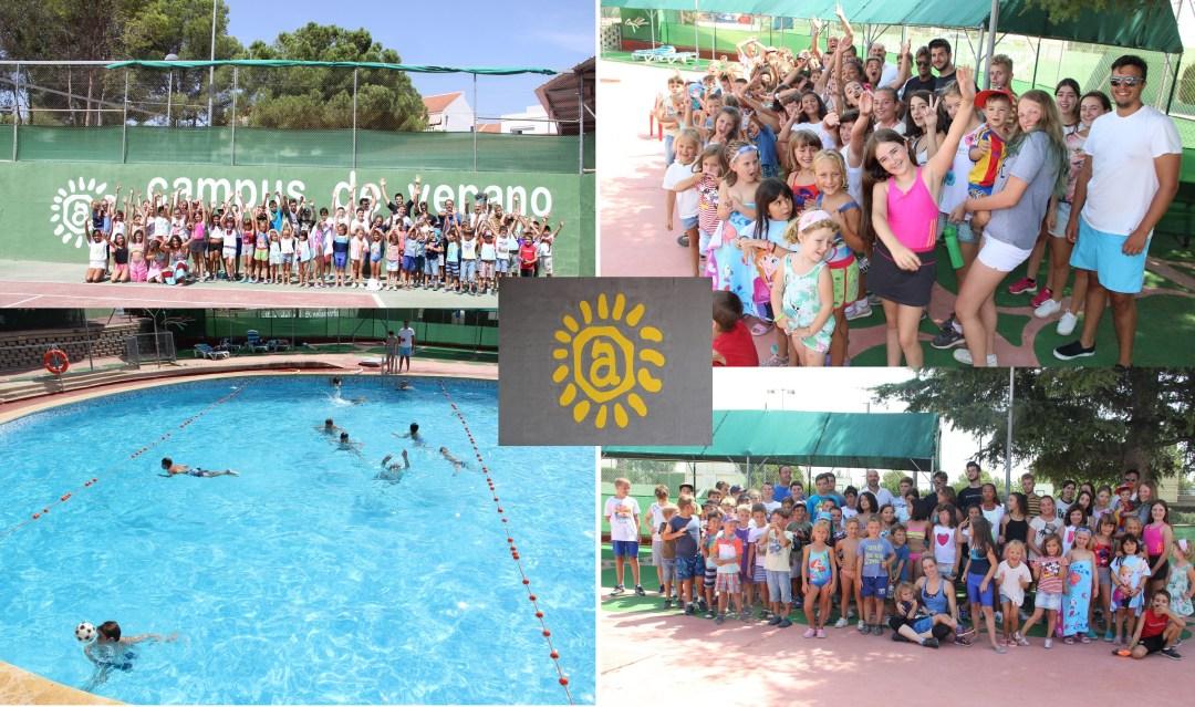 El concejal de deportes ha visitado el X campus de verano de l'Alfas del sol.