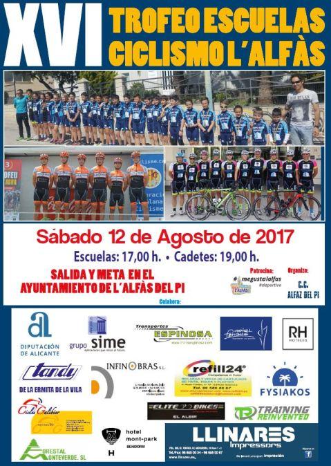 El Trofeo Escuelas de Ciclismo de l'Alfàs del Pi llega este sábado a su XVI edición